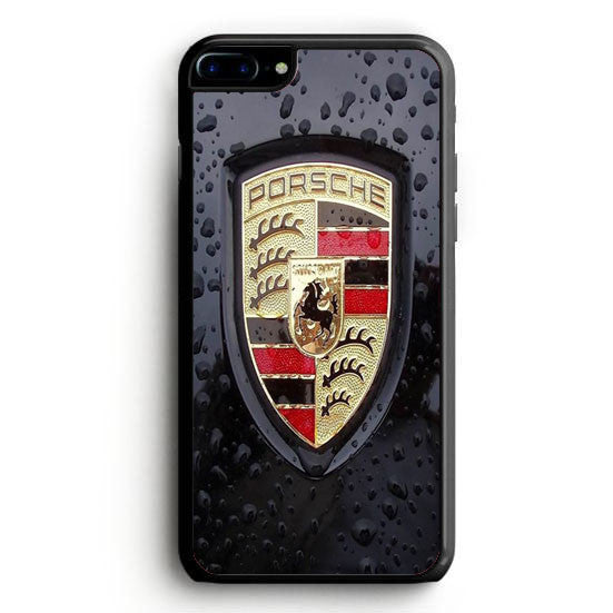 Porsche Cars Logo On Rain iPhone 7 Plus | yukitacase.com