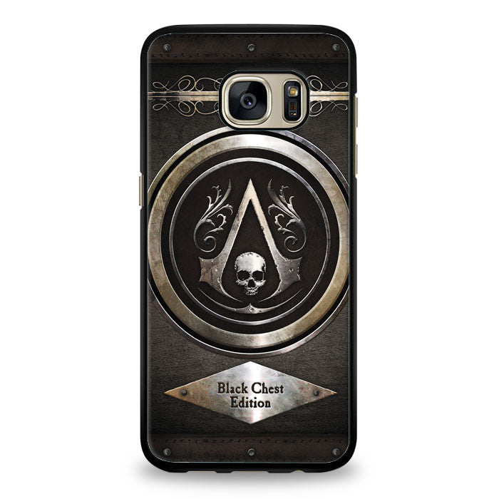 Assassins Creed Black Flag logo Samsung Galaxy S7 Edge Case | yukitacase.com