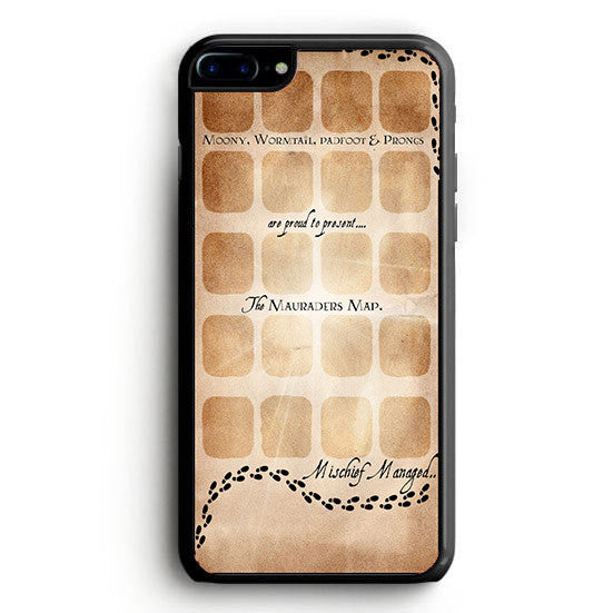 The Mauraders Map Moony Wormtail Padfoot Prongs iPhone 7 | yukitacase.com