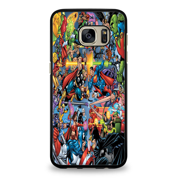 Avengers Vs Justice League Samsung Galaxy S6 Edge Case | yukitacase.com