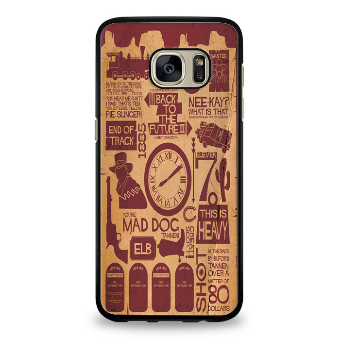 Back To The Future items Samsung Galaxy S7 Edge Case | yukitacase.com