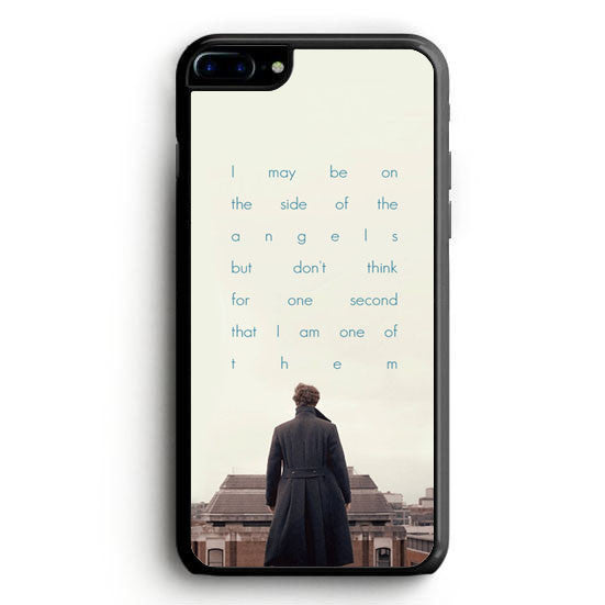 BBC Sherlock Quote Benedict Cumberbatch iPhone 7 Plus Case | yukitacase.com