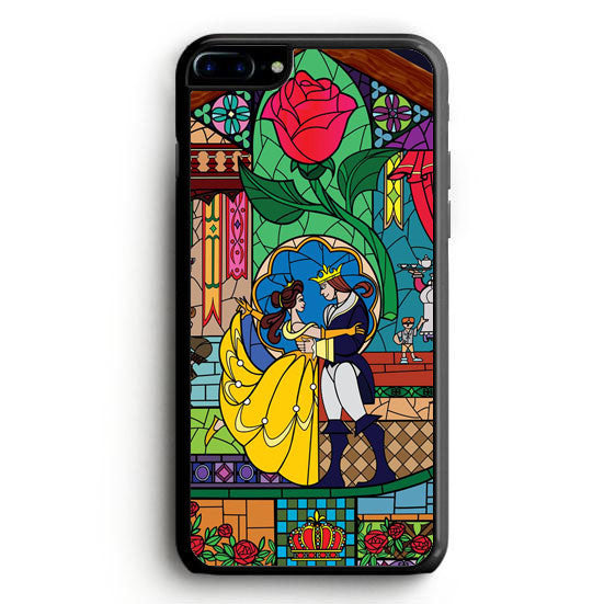Beauty and The Beast Disney Tardis Police Box Galaxy iPhone 7 Case | yukitacase.com