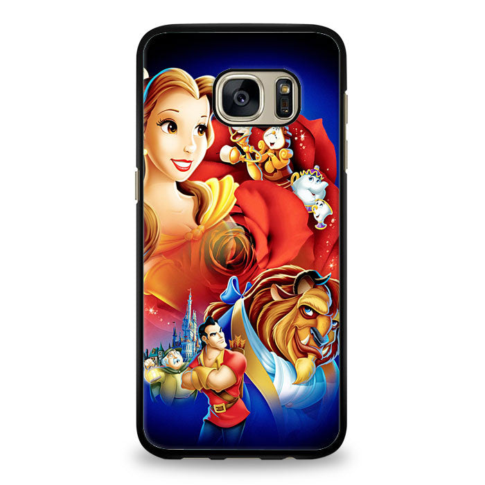 Beauty The Beast Disney Poster Samsung Galaxy S6 Edge Case | yukitacase.com