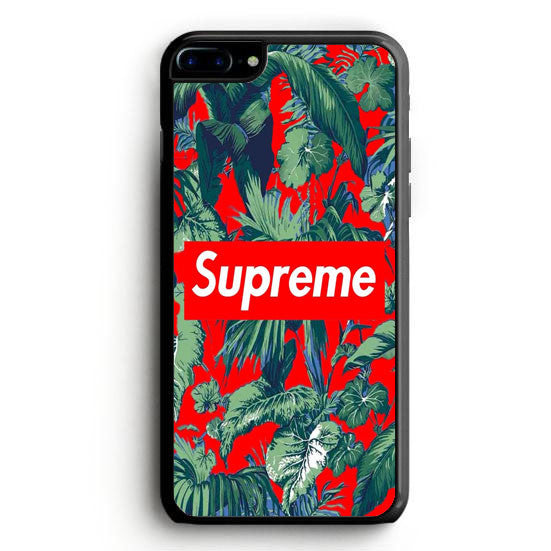 Supreme on Red Flower iPhone 6 Plus | yukitacase.com