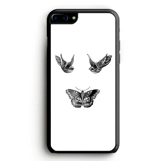 Birds and butterfly tattoos iPhone 7 Case | yukitacase.com