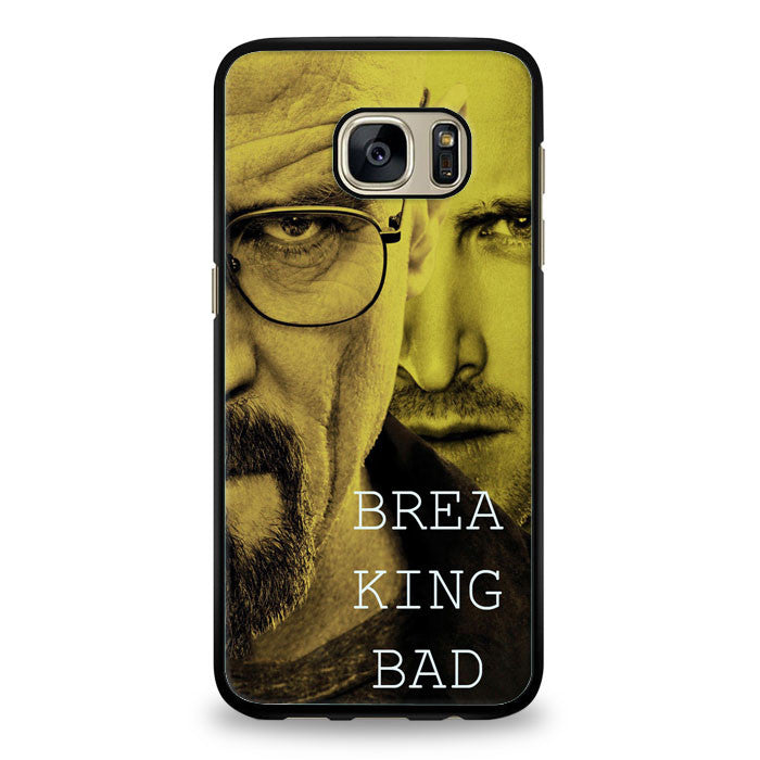 Breaking bad split face Hard Samsung Galaxy S7 Edge Case | yukitacase.com