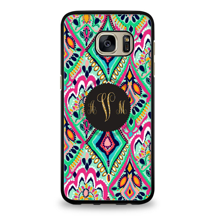 the latest 579cb 9c679 Lilly Pulitzer Monogram With Glitter Letters Samsung Galaxy S7 Edge Case |  yukitacase.com