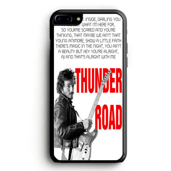 Bruce Springsteen Born To Run Quote iPhone 7 Case | yukitacase.com