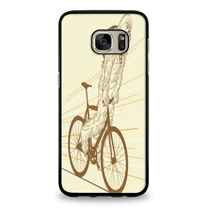 Chewbacca biking Star Wars Samsung Galaxy S6 Edge Case | yukitacase.com