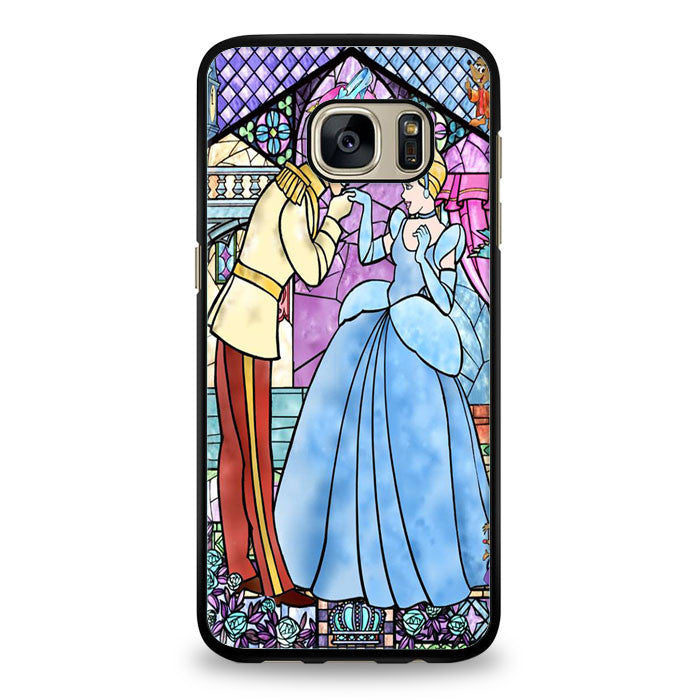 Cinderella Stained Glass Samsung Galaxy S6 Edge Plus Case | yukitacase.com