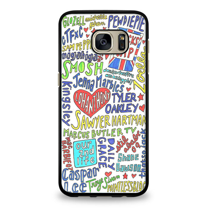 Collage Youtubers art Samsung Galaxy S6 Edge Case | yukitacase.com