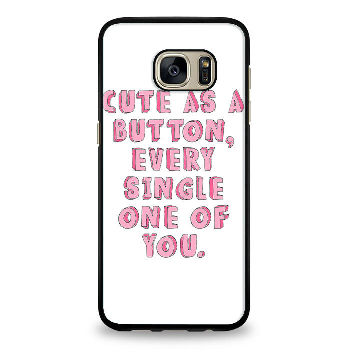Cute As a Button, Every Single One of You Samsung Galaxy S6 Edge Case | yukitacase.com