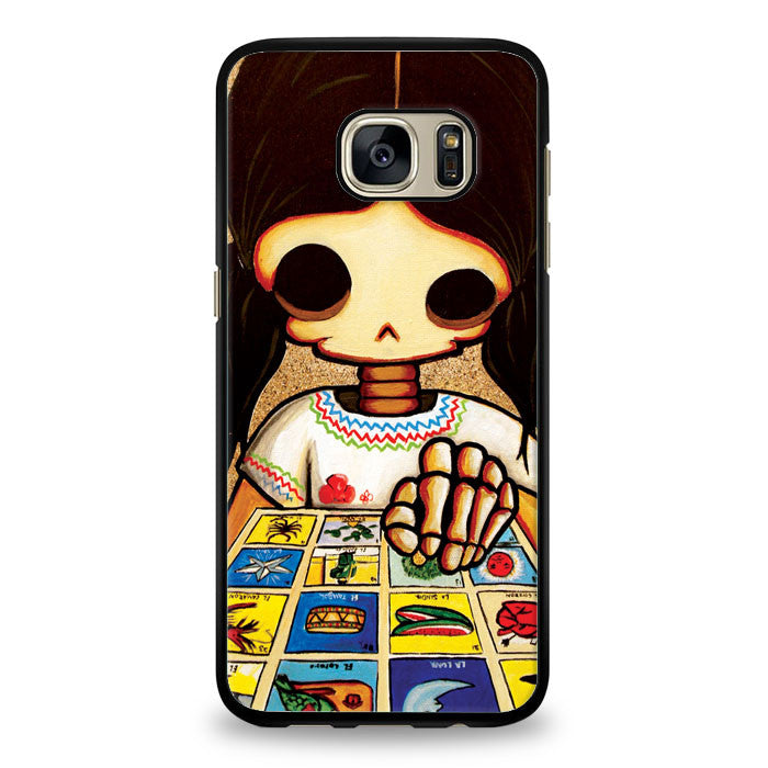 Day of The Dead Skeleton Girl Samsung Galaxy S6 Edge Case | yukitacase.com