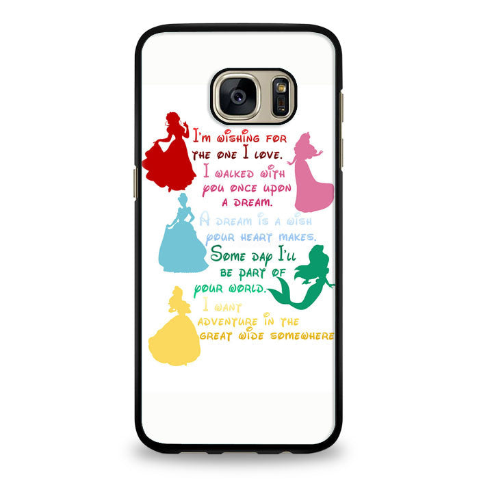 Disney Princesses Quotes Cover Samsung Galaxy S6 Edge Case | yukitacase.com