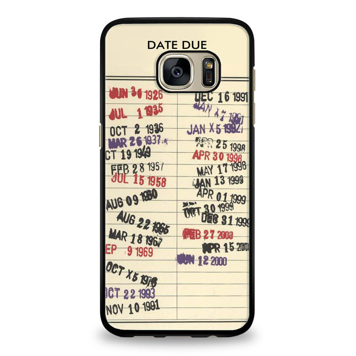 Due Date IPHONE 5S CASE Vintage Library Due Date Samsung Galaxy S6 Edge Case | yukitacase.com