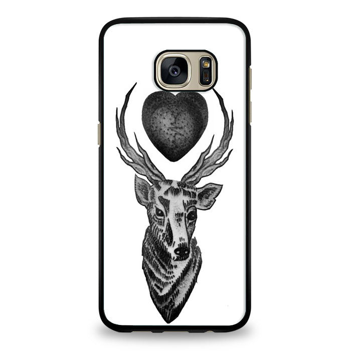 Elk heart tattoo Samsung Galaxy S6 Edge Case | yukitacase.com