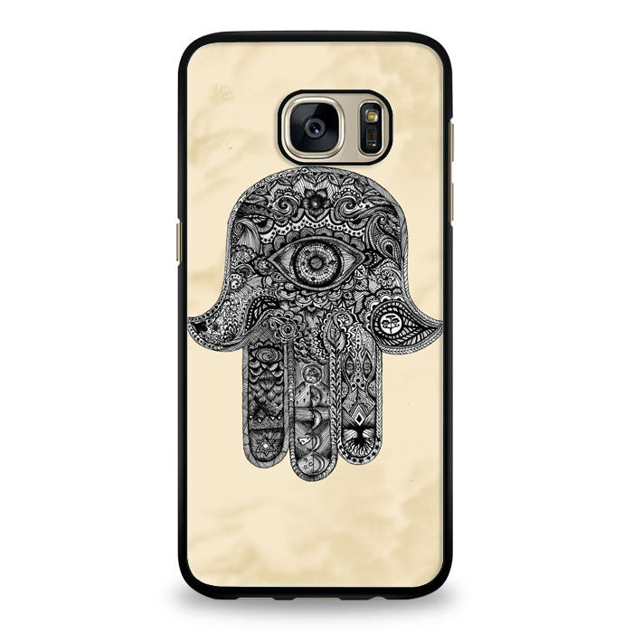 evil eye hamsa blue mint Samsung Galaxy S6 Edge Case | yukitacase.com
