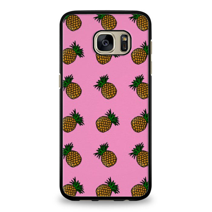 Fashion Trends Pink Pineapple pattern Samsung Galaxy S6 Edge Plus Case | yukitacase.com