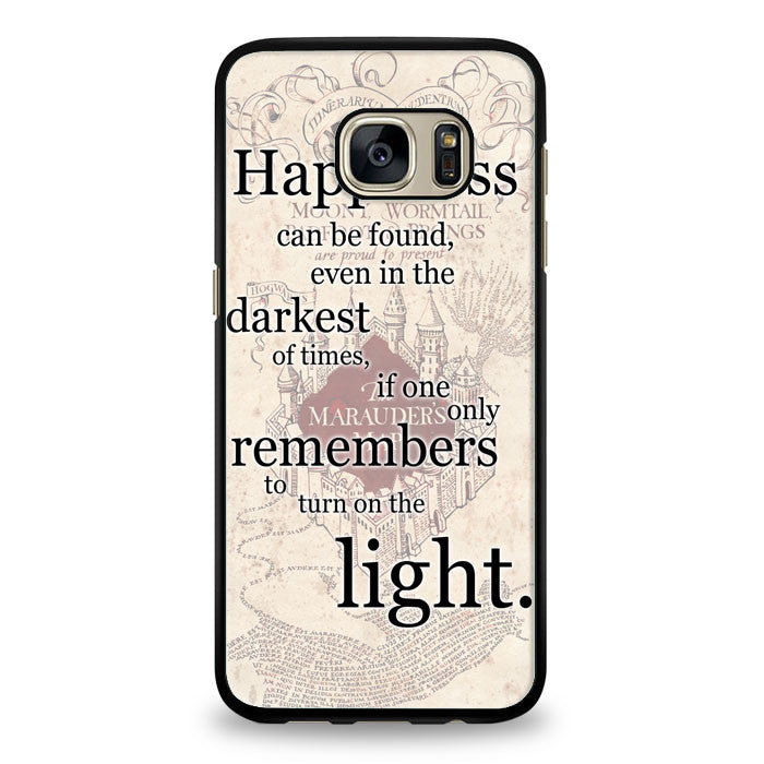 Happiness quote harry potter Samsung Galaxy S7 Edge Case | yukitacase.com