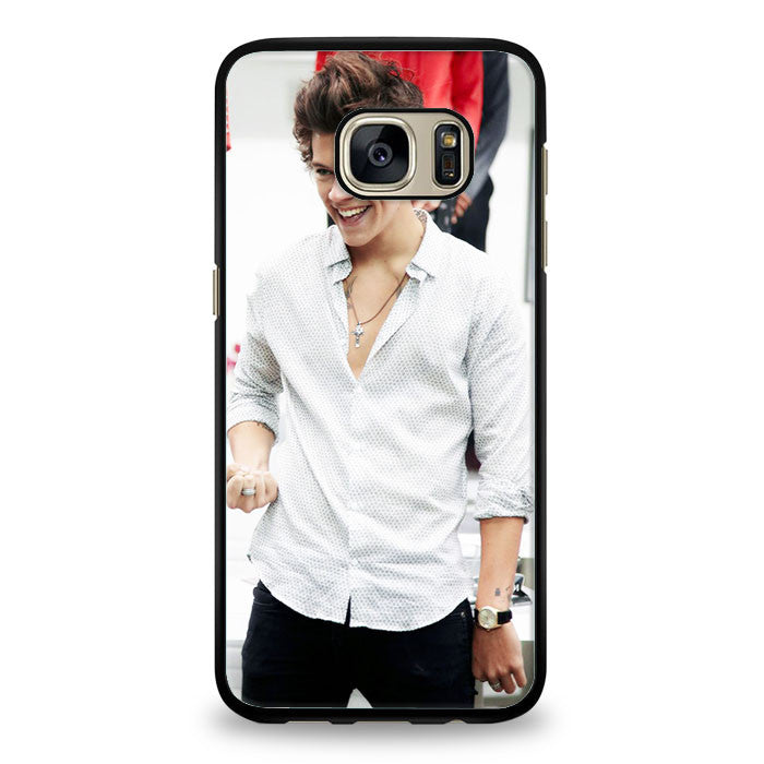 Harry Styles collage cartoon Samsung Galaxy S7 Edge Case | yukitacase.com