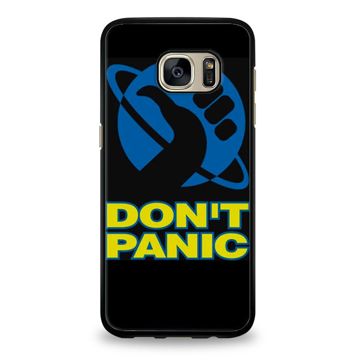 Hitchhiker's Guide To The Galaxy (Don't Panic) design Samsung Galaxy S6 Edge Case | yukitacase.com