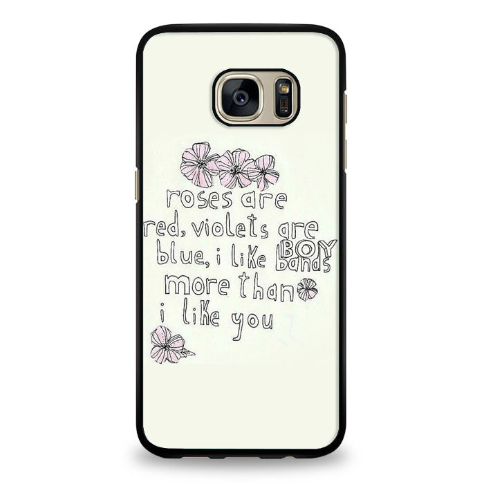 I Like Bands More Than I Like You Samsung Galaxy S6 Edge Case | yukitacase.com