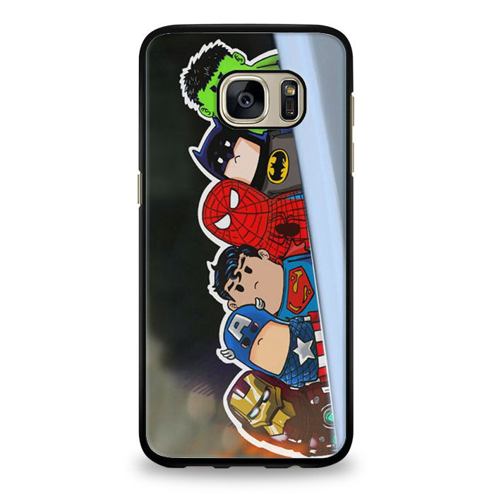 Iron Man superman batman wry neck Samsung Galaxy S7 Edge Case | yukitacase.com
