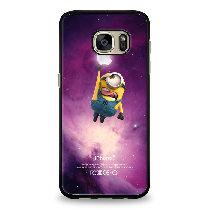 kevin catch glowing apple in nebula Samsung Galaxy S7 Edge Case | yukitacase.com