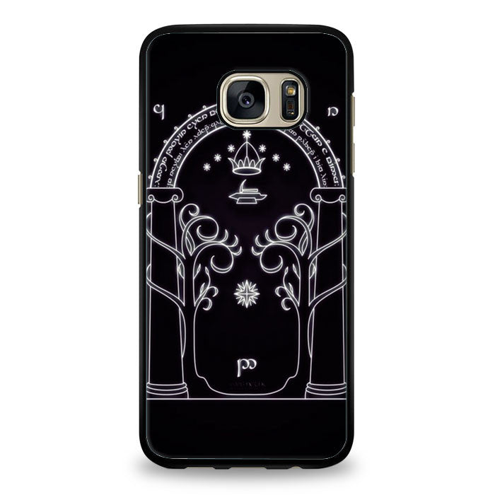 Magic gate of Moria, Lord of the ring, the hobbit Samsung Galaxy S7 Edge Case | yukitacase.com