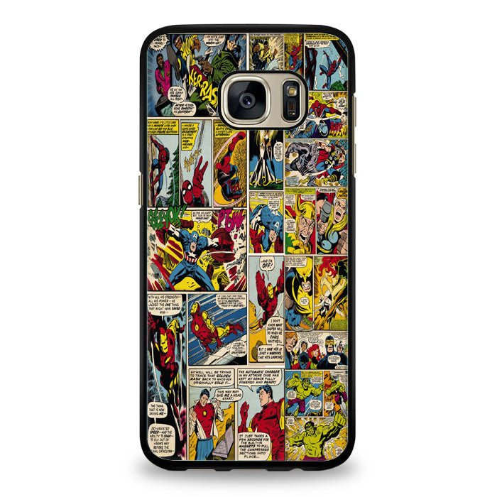 Marvel Comics Iron Man Samsung Galaxy S7 Edge Case | yukitacase.com