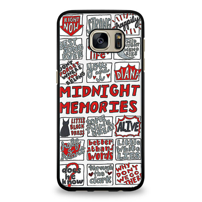 Midnight Memories One Direction Collage Samsung Galaxy S7 Edge Case | yukitacase.com
