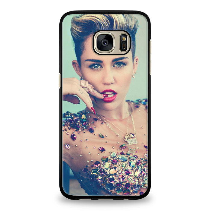Miley Cyrus Wrecking Ball Pink Cover Samsung Galaxy S7 Edge Case | yukitacase.com