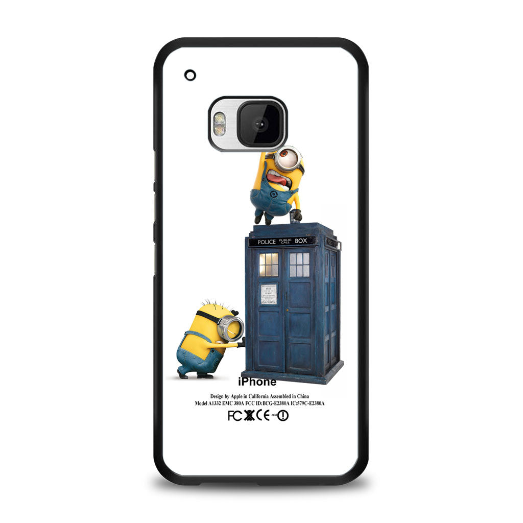 minion stolen apple logo with police box Samsung Galaxy S6 Case | yukitacase.com