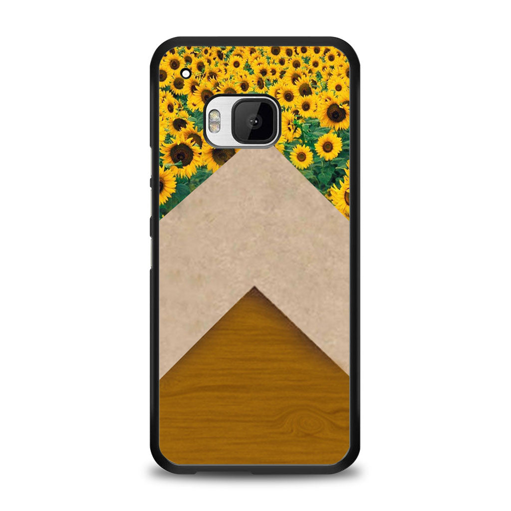 Sunflower Chevron Wood Grain Cute Samsung Galaxy S6 Edge Plus Case | yukitacase.com