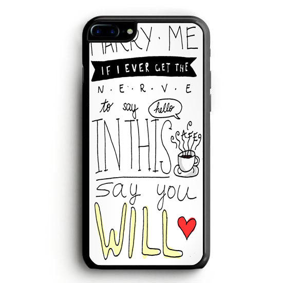 Train - Marry Me Lyric Cover iPhone 6 Case | yukitacase.com