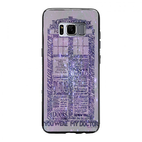 Word art tardis doctor who in galaxy Samsung Galaxy S8 Case | yukitacase.com