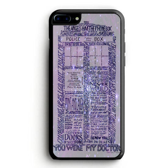 Word art tardis doctor who in galaxy iPhone 7 Case | yukitacase.com