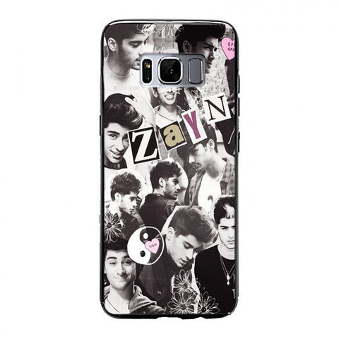 Zayn Malik blackwhite collage Samsung Galaxy S8 Case | yukitacase.com
