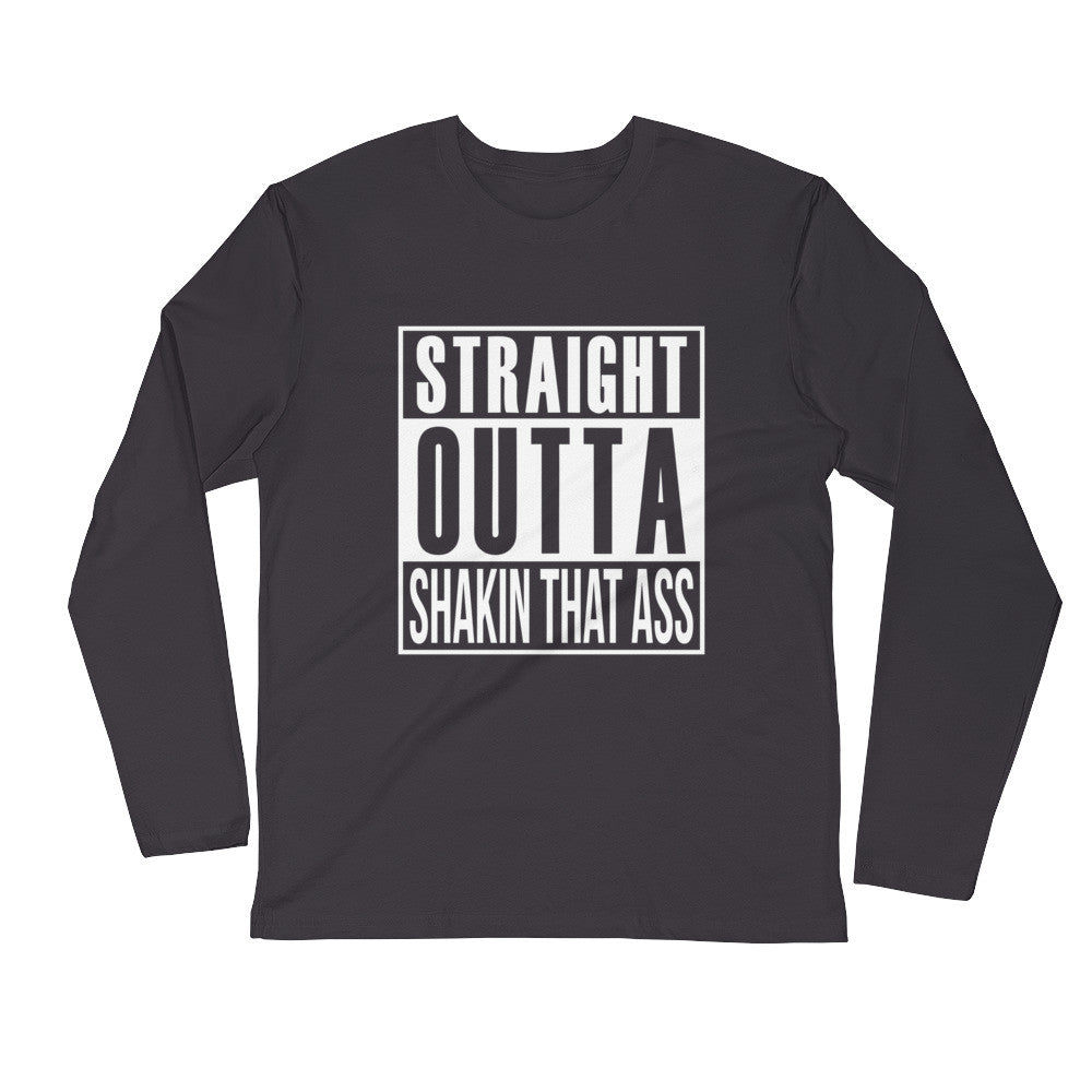 """Straight"" Long Sleeve Fitted Crew"