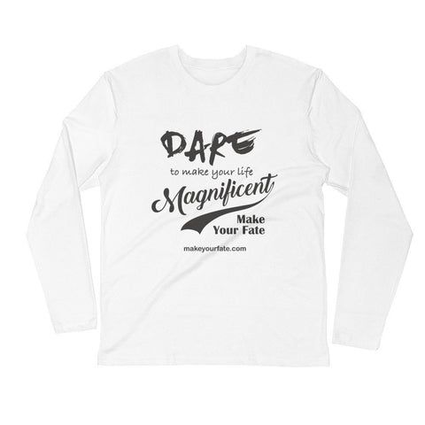 """Dare"" Long Sleeve Fitted Crew"