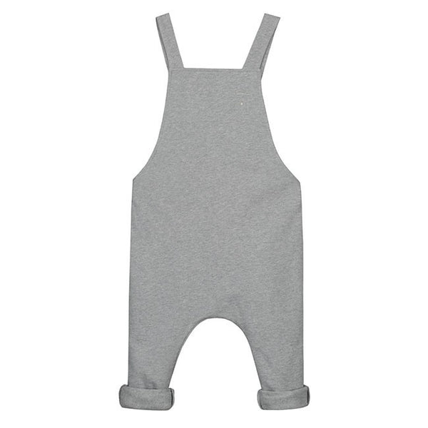 Gray Label Salopette Grey Melange - Über Barn UK Ireland Kids clothes ethical fashion little toddler baby girl boy children childrens kids rompers jumpsuits jump suit hoodie