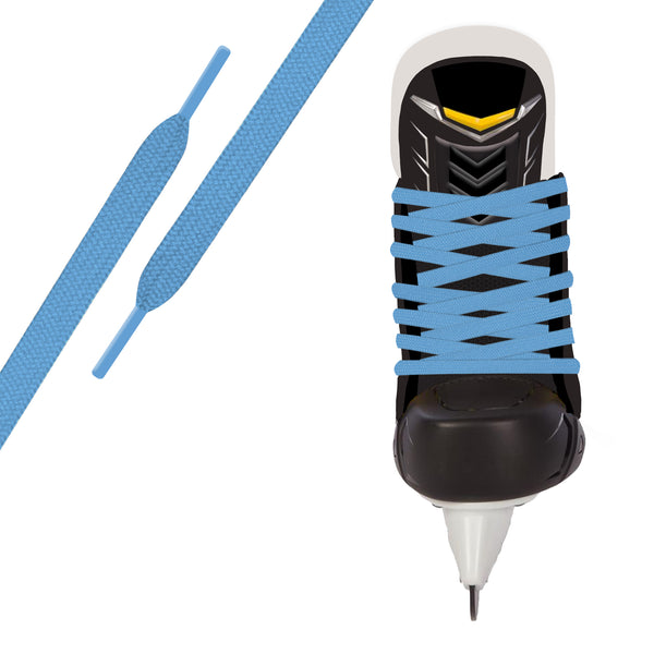 Baby Blue Pro Waxed Hockey Skate Lace