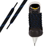 Black/Royal Blue Pro Waxed Hockey Skate Lace