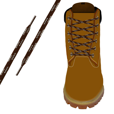Brown & Tan Heavy-Duty Pro Boot Lace