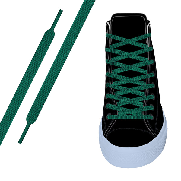 Green Flat Athletic Lace