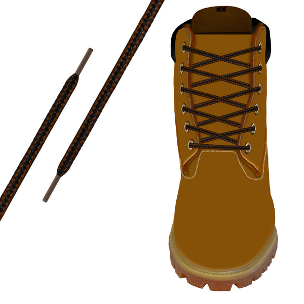 Black & Copper Heavy-Duty Pro Boot Lace
