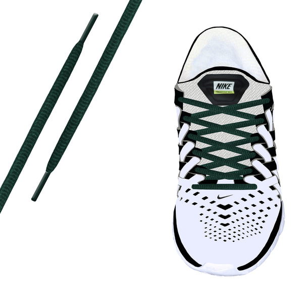 Forest Green Oval Athletic Lace