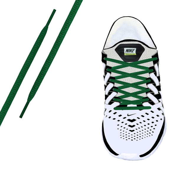 Green Oval Athletic Lace