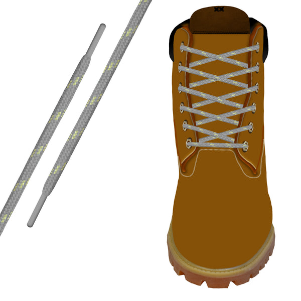 Grey/Gold Kevlar® Xtreme™ Round Boot Lace